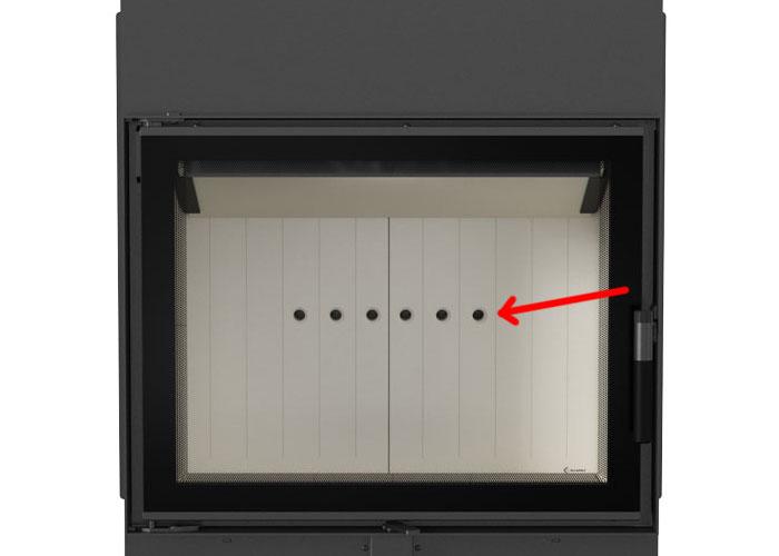 Система вторичного дожига в каминной топке Kratki LUCY