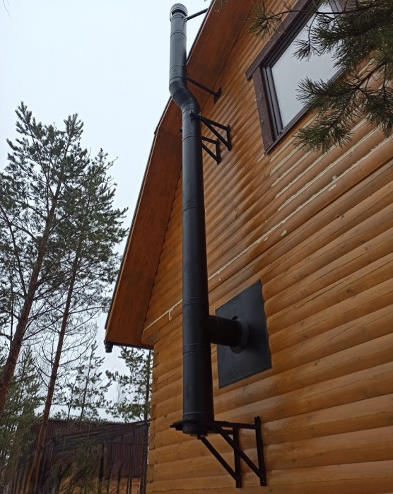 Дымоход MAGMA с фасада дома