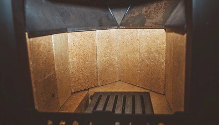 Печь с футеровкой шамотным кирпичом