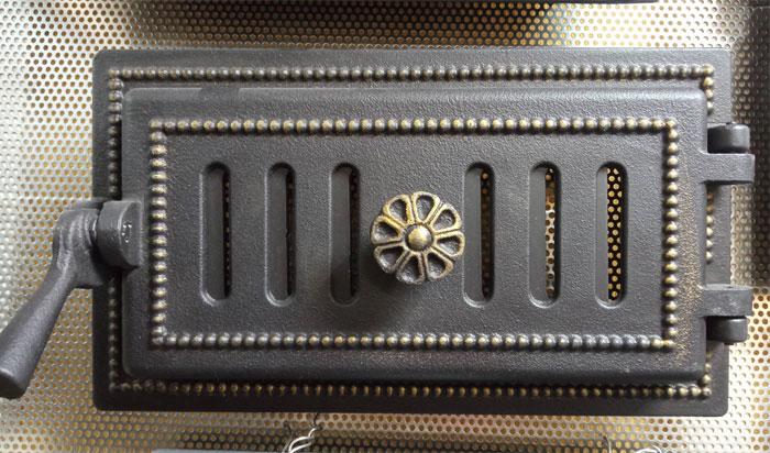 Поддувальная печная дверца Везувий 236 (бронза)